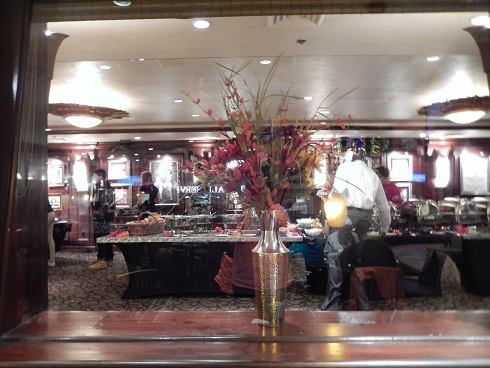 Looking into the buffet room afrom the dining area at Hard Rock Cafe