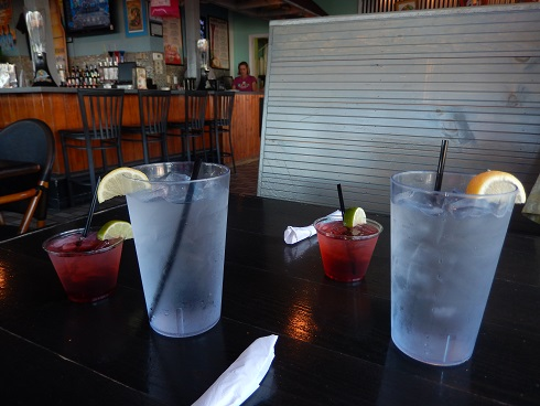Moe Moons is one of the few on the boardwalk with a happy hour mixed drink special