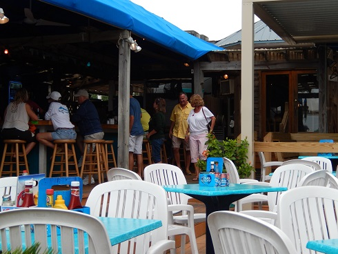 Outside Seating and Bar area has covered and open areas