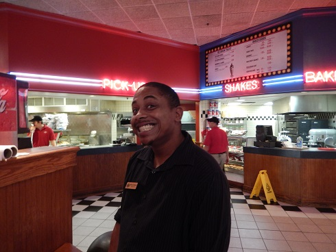 Fuddruckers Best Face - Your waiter is avaialble for Service With A Smile!