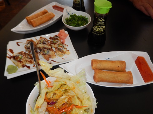 The sushi spread was very nice at a fair price.