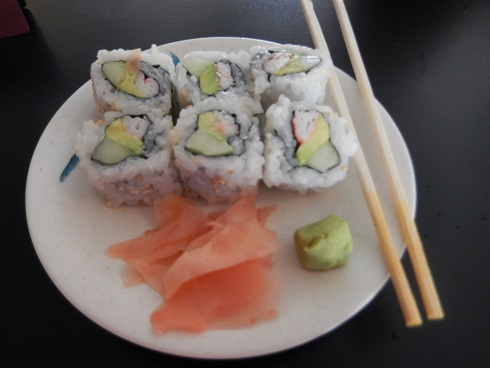 The sushi was fresh and well presented.