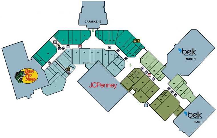 Myrtle Beach Mall Property Map