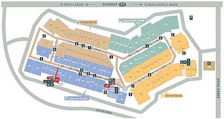 Tanger Outlet Myrtle Beach Hwy 17 Property Map