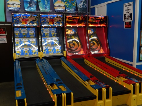 Alley Bowler Fire ball Game at the Fun Plaza