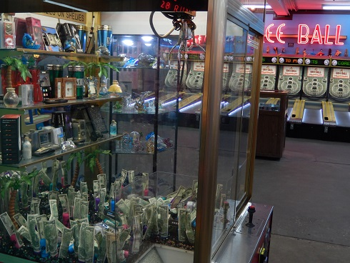 Grab a prize with a robot arm at the Fun Plaza, Myrtle Beach Boardwalk