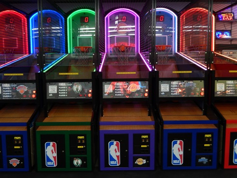Fun Plaza on the Boardwalk in Myrtle Beach NBA Hoops game For gifted and skilled basketball players