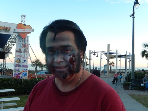 Zombie Elvis getting ready for tonights Elvis Show on the Boardwalk