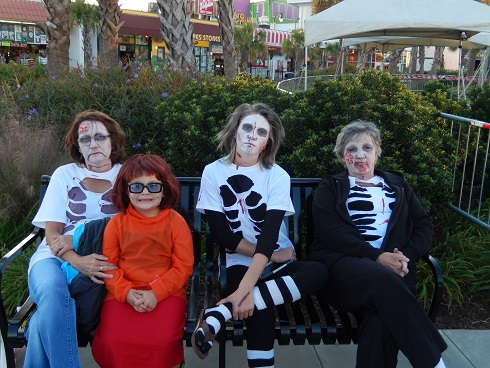 A local family prepares for Fright Night on the Boardwalk