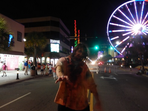 The Zombies of Fright Night take over the streets.