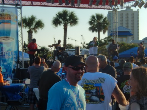 Myrtle Beach Octoberfest Shows One of the bands takes the stage