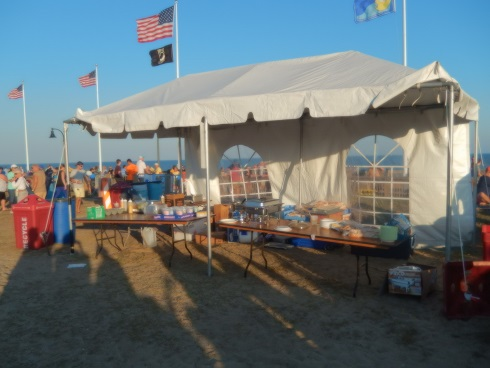 Myrtle Beach Octoberfest VIP Stage and Staff Food Booth During a Show