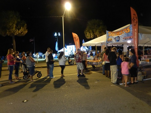 Myrtle Beach Octoberfest Ticket Booth<br>Line Moved Quickly all day and Night