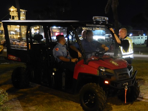 Myrtle Beach Octoberfest Local Police - Boardwalk Transport