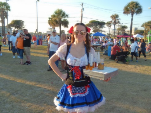 Myrtle Beach Octoberfest Beverage Girls Service and a smile