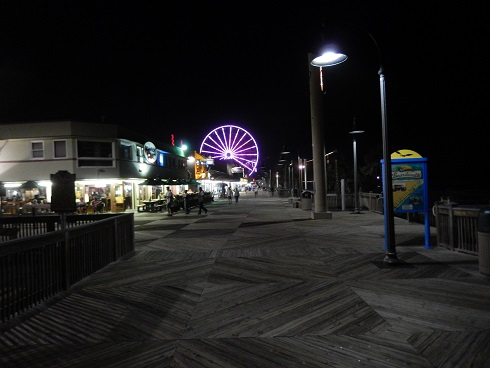 Myrtle Beach Boardwalk Brightly Lit