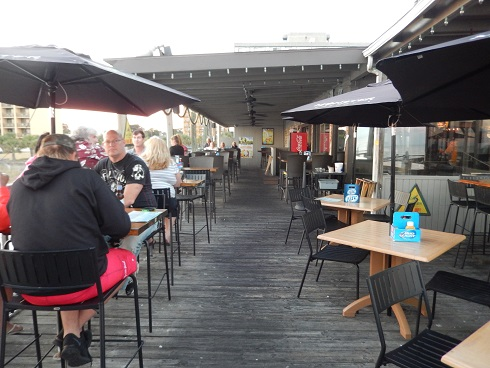 Seating outside on Pier 14