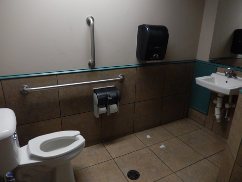 The bathrooms are for customers only, they only seat one, waiting in line is normal