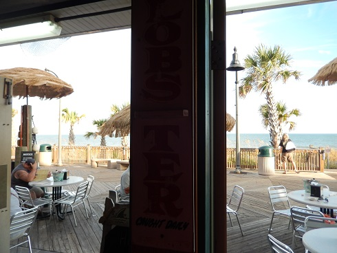 Outside seating has better views, because you enjoy the view the service seems better.