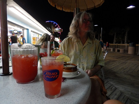 The best mixed drink deal on the boardwalk, a free t-shirt with a pitcher.