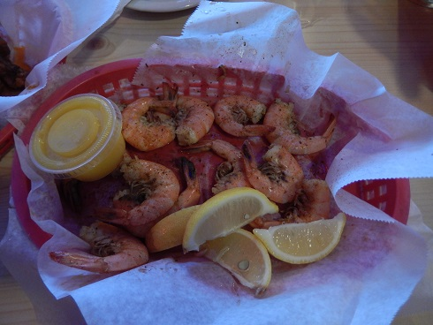 The shrimp is very good, happy hour specials give great deals.
