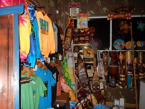 Memorabilia for sale to remind you of your beach side experience.