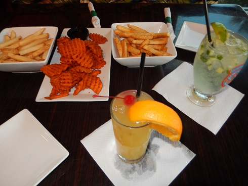 Our First Visit, crab fries, the Cucumber Elixir and Havana Cabana