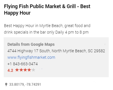 Myrtle beach top 50 happy hours the best myrtle beach for Flying fish happy hour