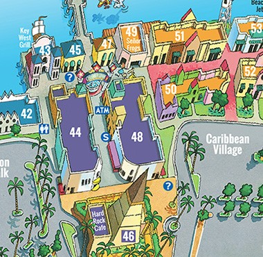 Broadway At The Beach Myrtle Map Best Beaches In World